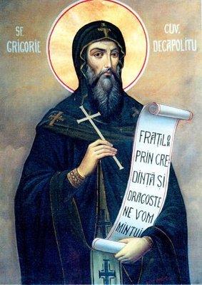 Acatistul Sfantului Cuvios Grigorie Decapolitul